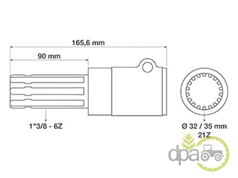 Adaptor priza putere z21-z6  S.3739
