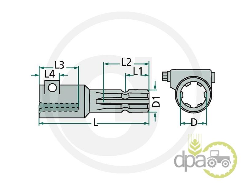 Adaptor priza putere z6  70/1190-1
