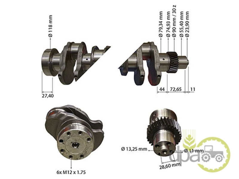 Arbore motor  John Deere RE504639