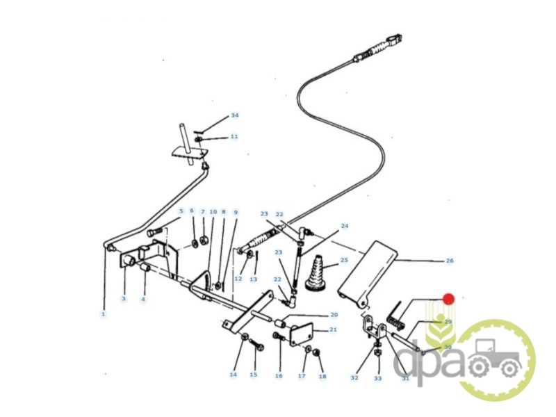 Arc pedala acceleratie  Massey Ferguson 1425680M1