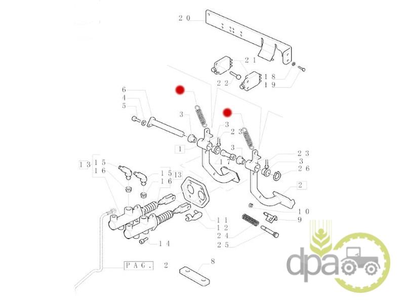 Arc pedala frana  Fiat 5153180