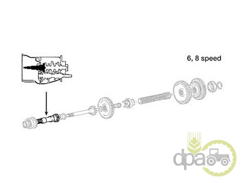 Ax priza putere  Massey Ferguson 1671704M91