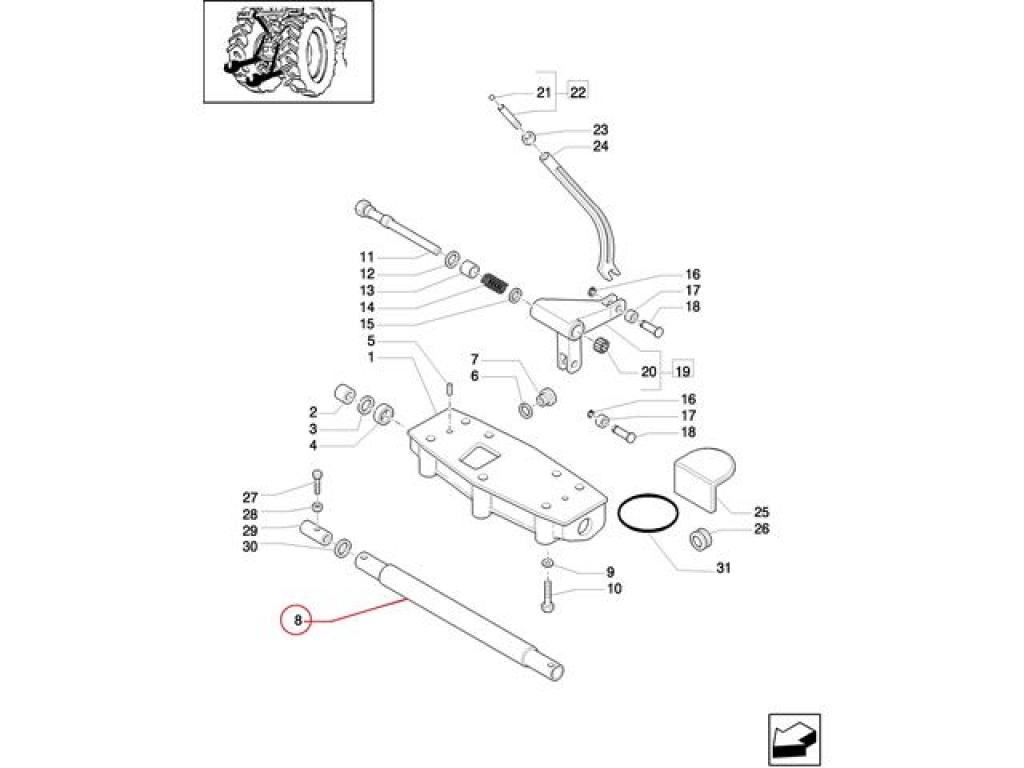 Ax ridicare hidraulica  Fiat 5111458