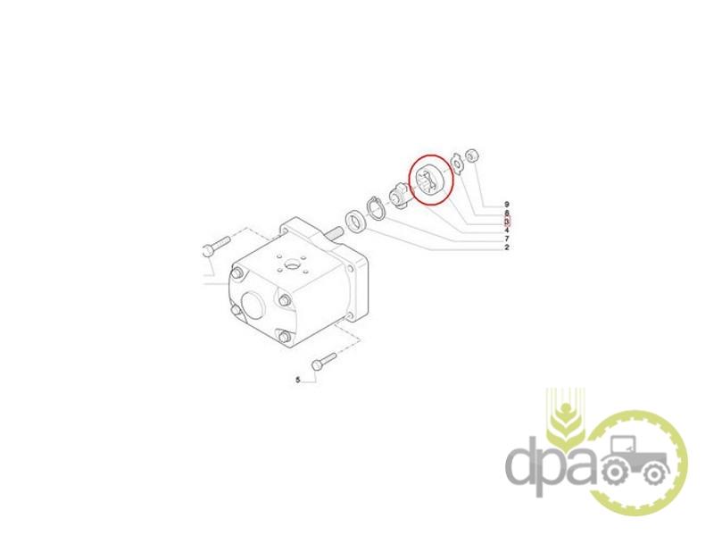 Bucsa cuplare pompa hidraulica  Fiat 4607588