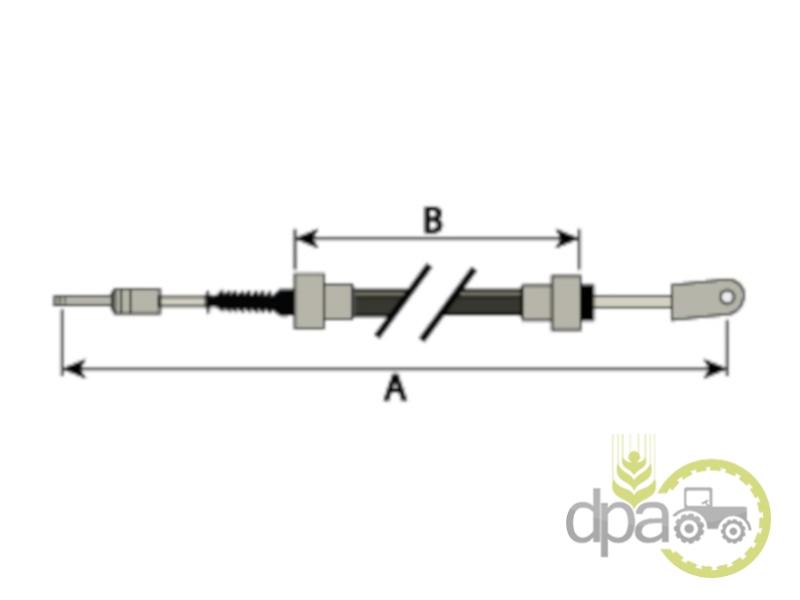 Cablu ambreiaj  John Deere AL117196
