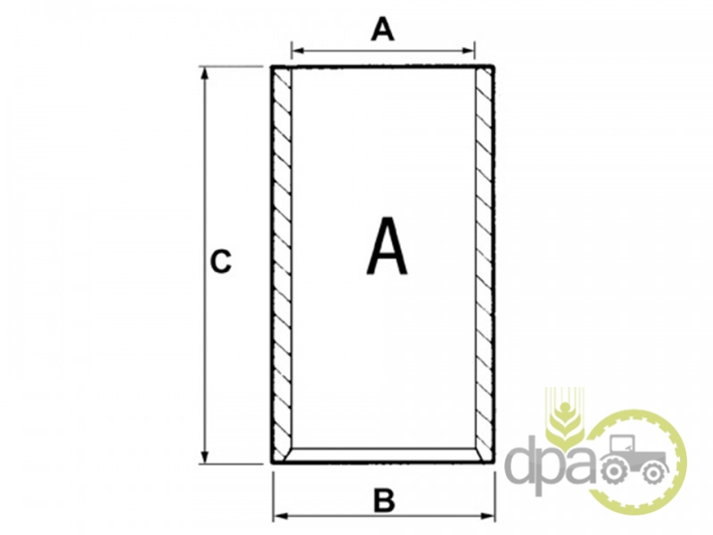 Camasa motor sf  Case IH HCK3904166
