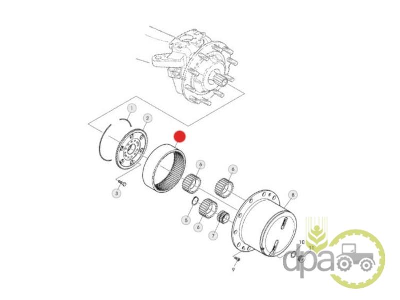 Coroana reductor fata  Kubota F411301021320
