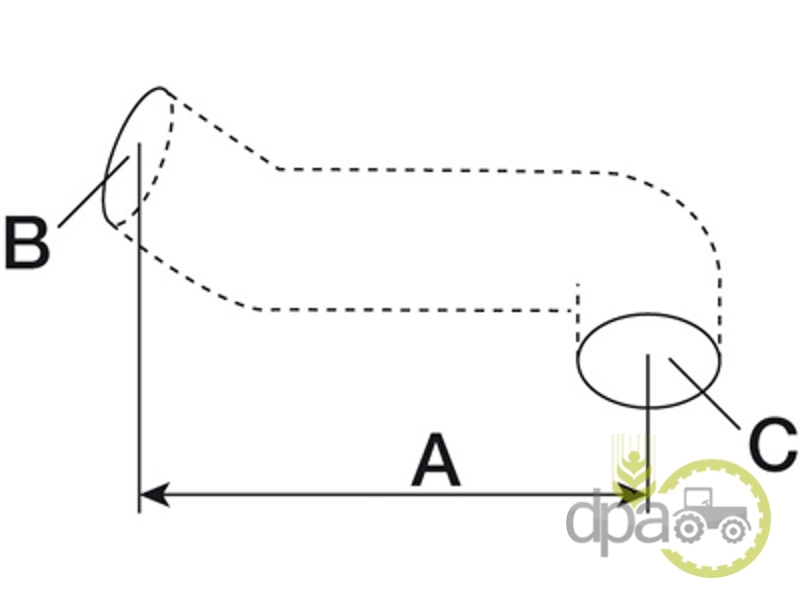 Furtun superior radiator  Case IH 402207R1