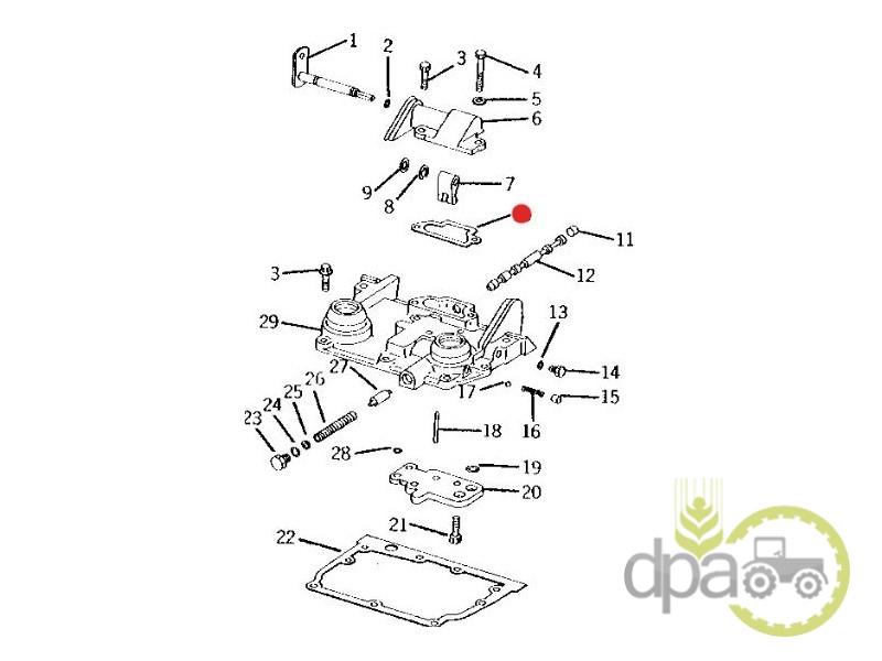 Garnitura capac selector  John Deere T25397