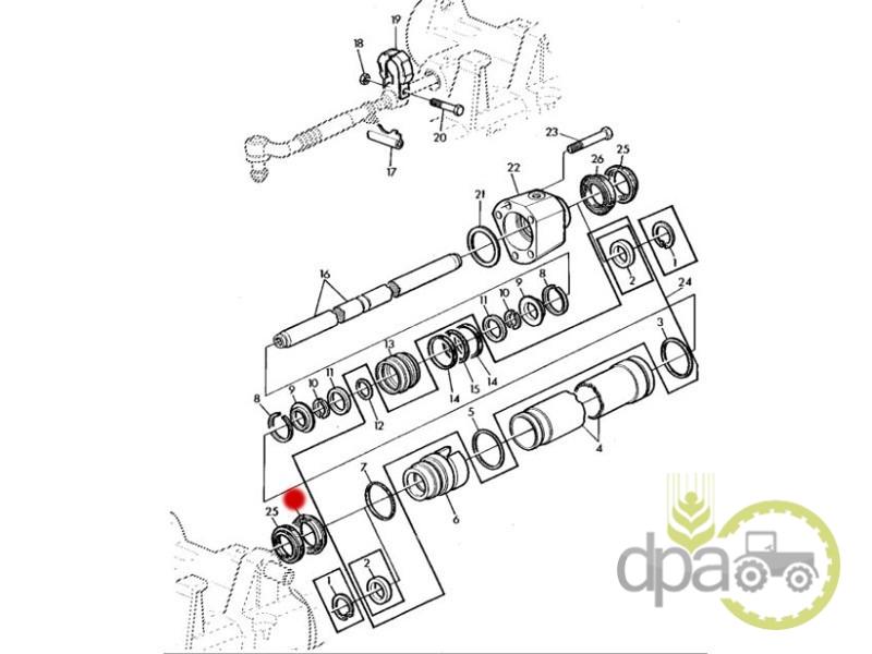 Garnitura cilindru directie  John Deere L41164