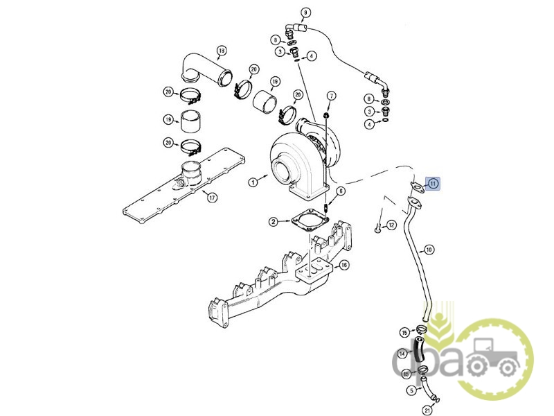 Garnitura conducta turbosuflanta  Ford J937706