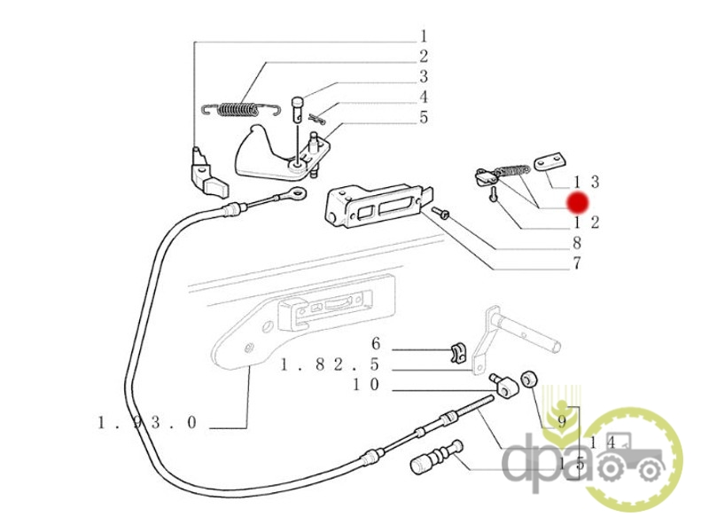 Intrerupator ridicare hidraulica  Case IH 5121786