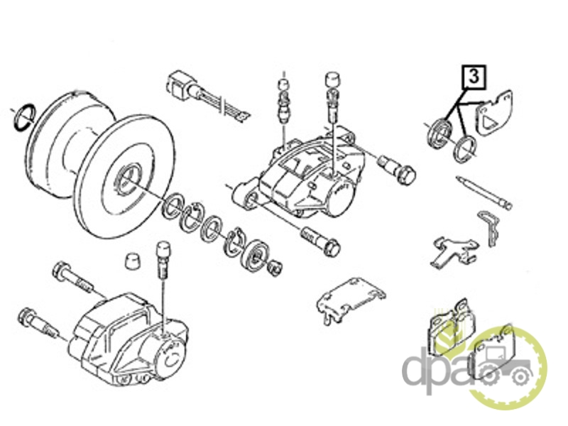 Kit reparatie etrier  Deutz 04384832