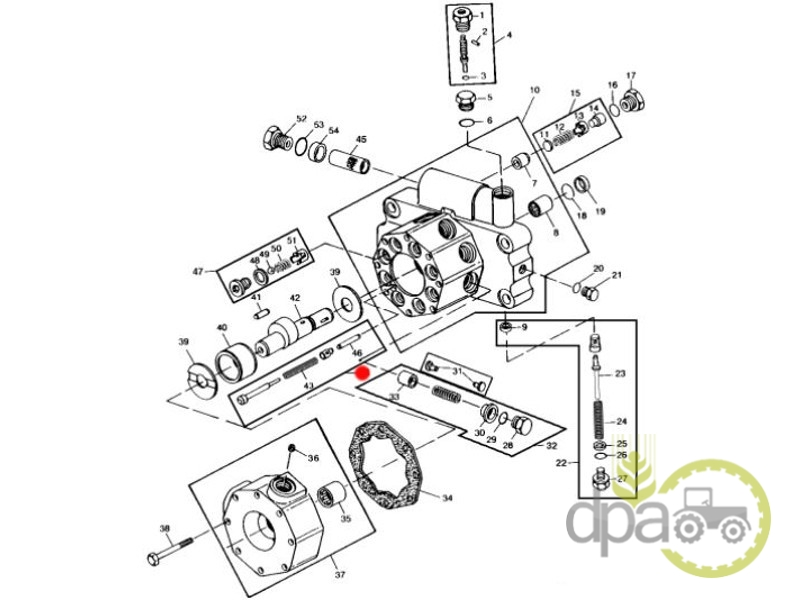 Kit reparatie supapa pompa hidraulica  John Deere AL71017