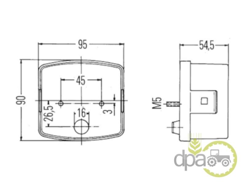 Lampa semnalizare dreapta fata  Case IH 3057565R91