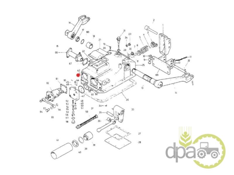 Oring cilindru hidraulic  Case IH 3051787R1