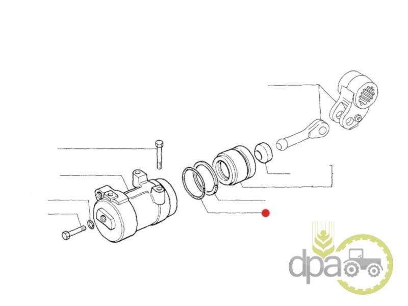 Oring piston cilindru hidraulic  New Holland 14465981