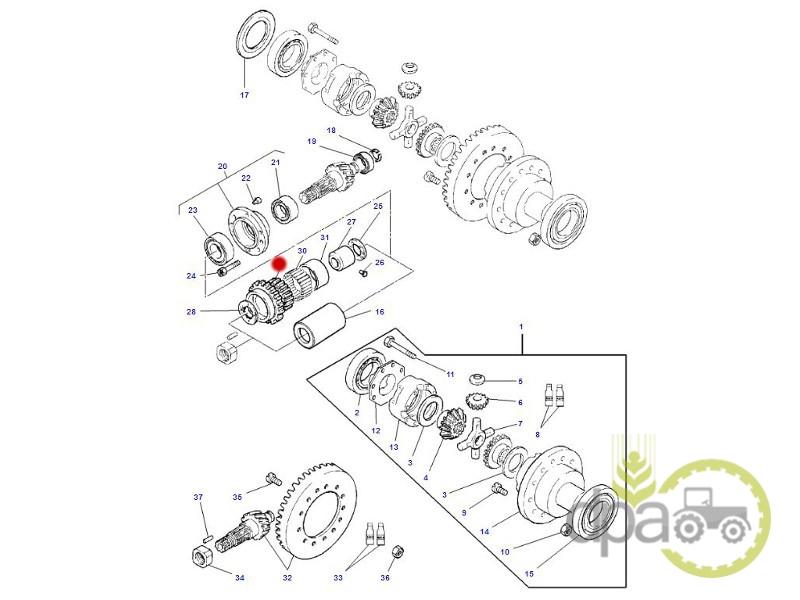 Pinion grup conic spate  Massey Ferguson 3817233M1