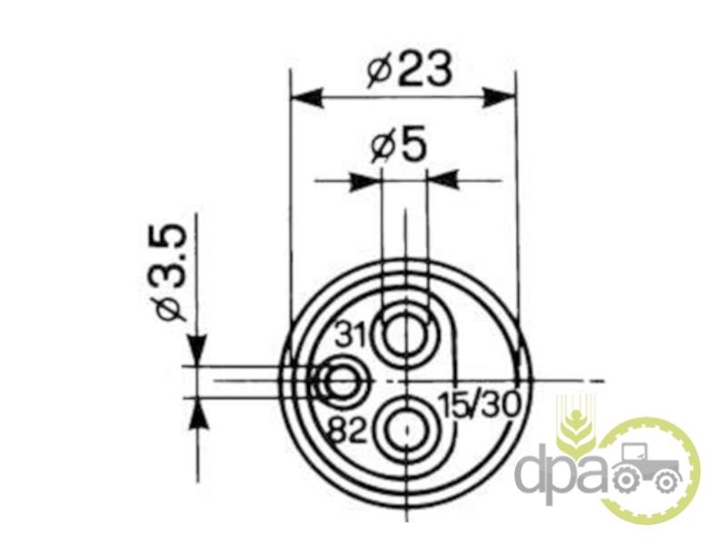 Priza electrica 3 pini  Deutz 4376942