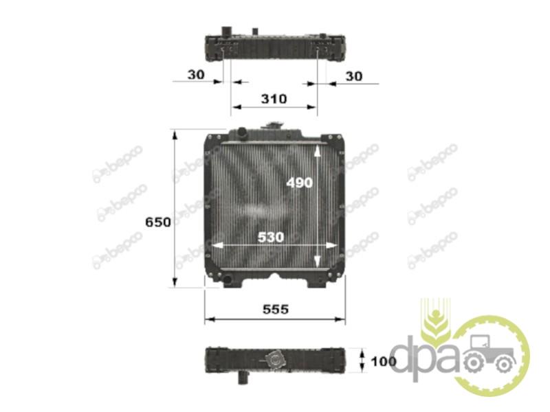 Radiator  Case IH 47832493