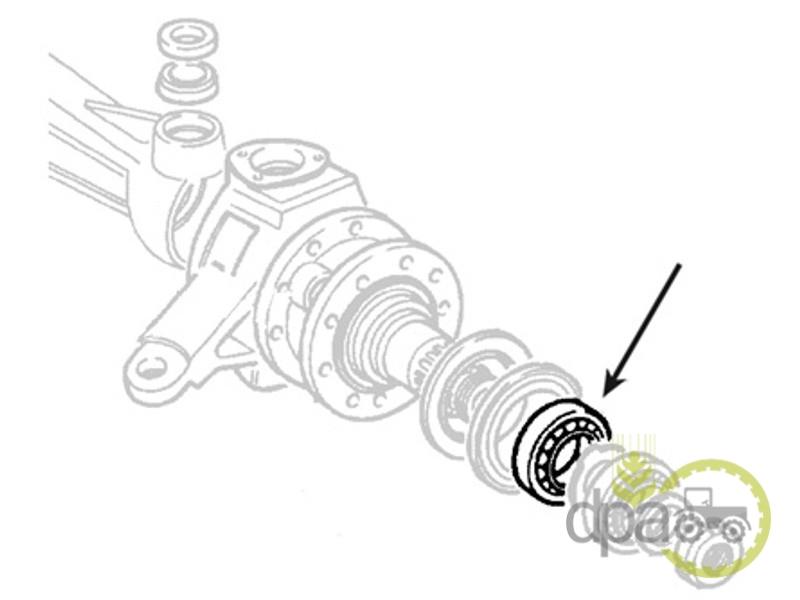 Rulment roata fata  Fiat 24903480