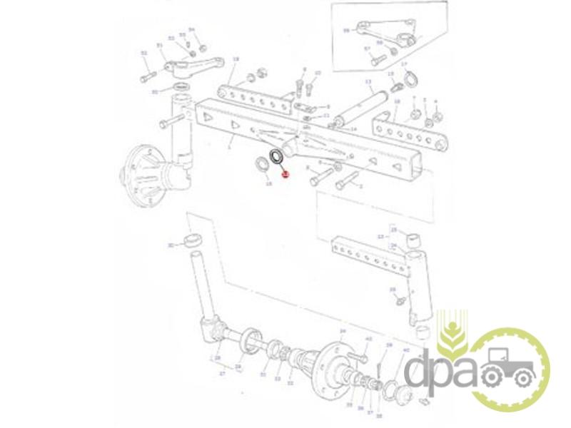 Saiba bolt punte fata 1.10mm  Massey Ferguson 1863313M1