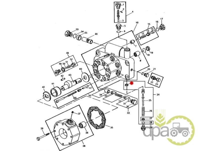Scaun supapa pompa hidraulica  John Deere R38041