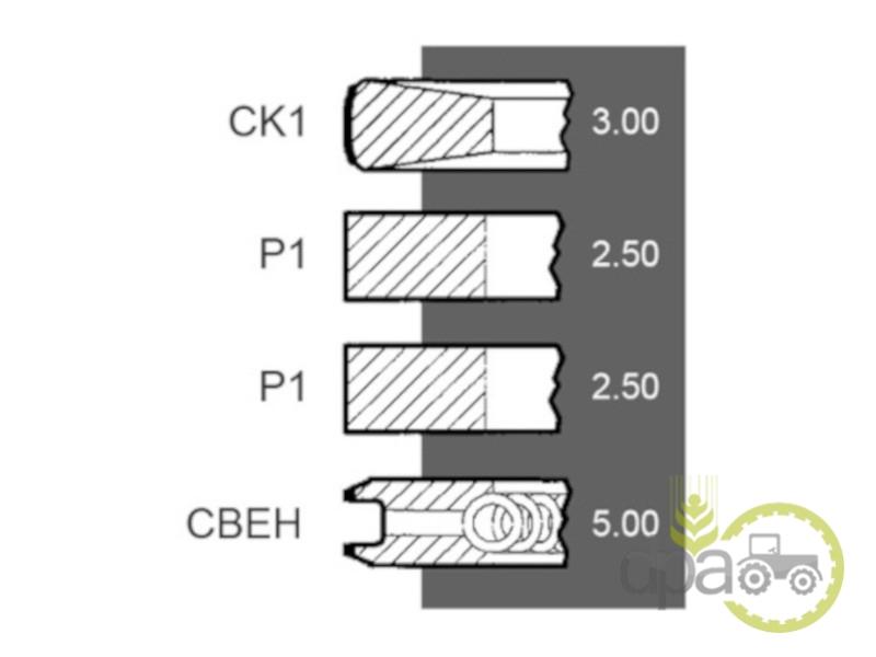 Segmenti motor  Deutz 02233074