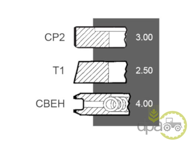 Segmenti motor  Deutz 08600526
