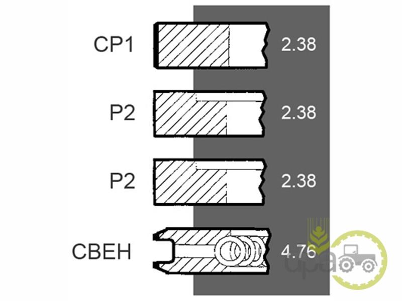 Segmenti motor  Massey Ferguson 41158065