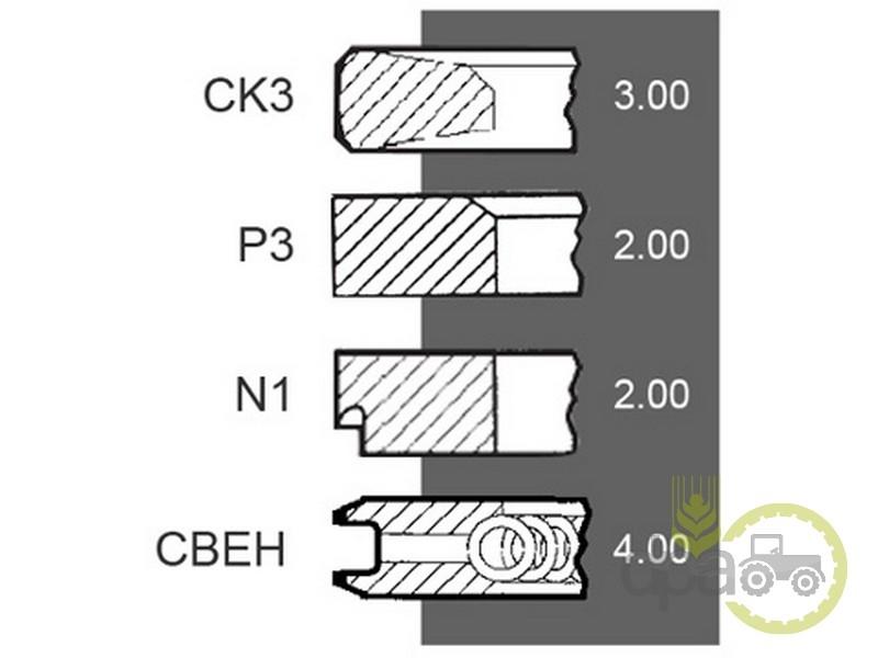 Segmenti motor  Renault 7701201833