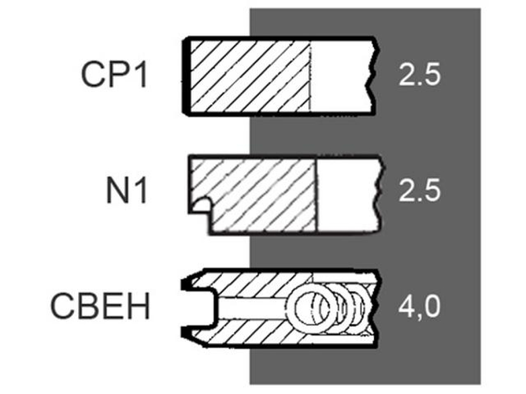 Segmenti motor  Fiat 80000771