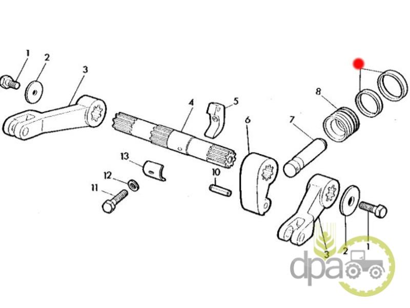 Set inele piston cilindru hidraulic  John Deere AL33105