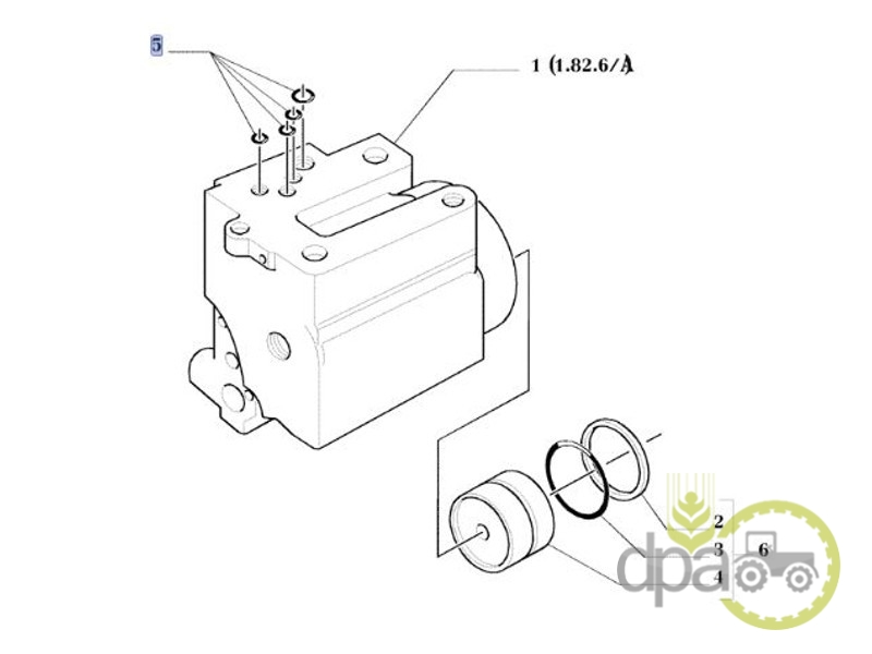 Set oring cilindru hidraulic  Mc Cormick 1390140