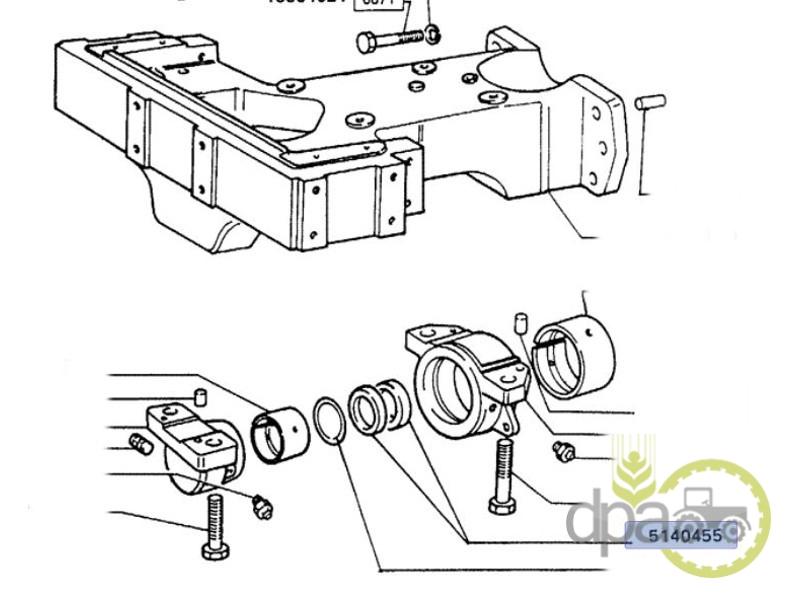 Simering bolt punte fata  Fiat 5188609