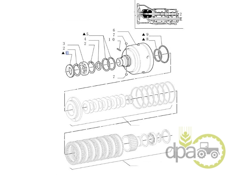 Simering Carcasa Ambreiaj Transmisie Case Ih 5122845