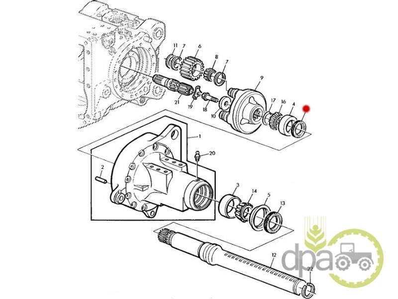 Simering carcasa reductor spate  John Deere 01026422