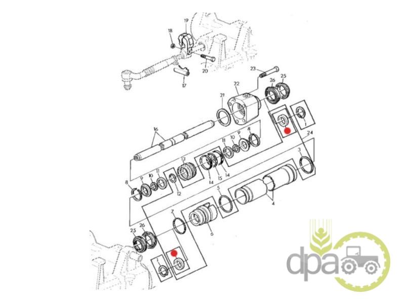 Simering cilindru directie  John Deere AL38088