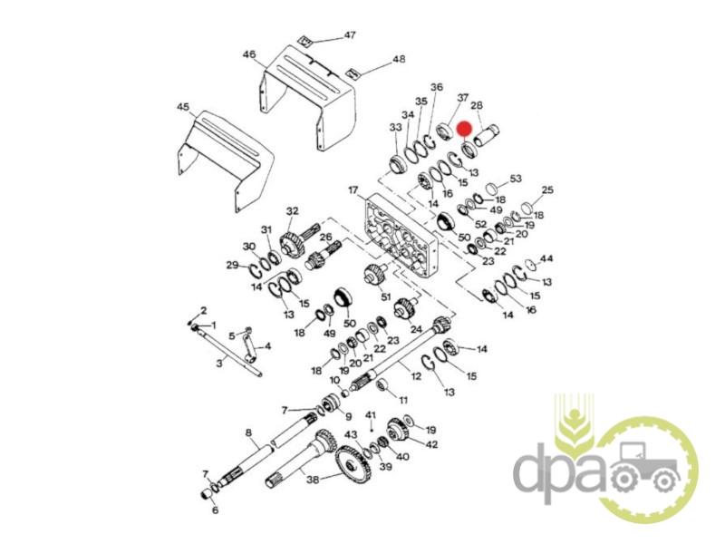 Simering priza putere  Case IH 3221285R1