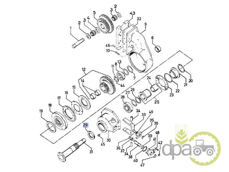 Simering reductor punte fata  Case IH 3216278R2