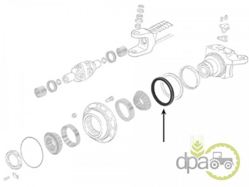 Simering roata fata  Case IH 04393239