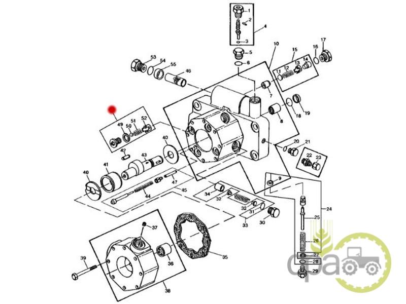 Supapa pompa hidraulica  John Deere AL71016
