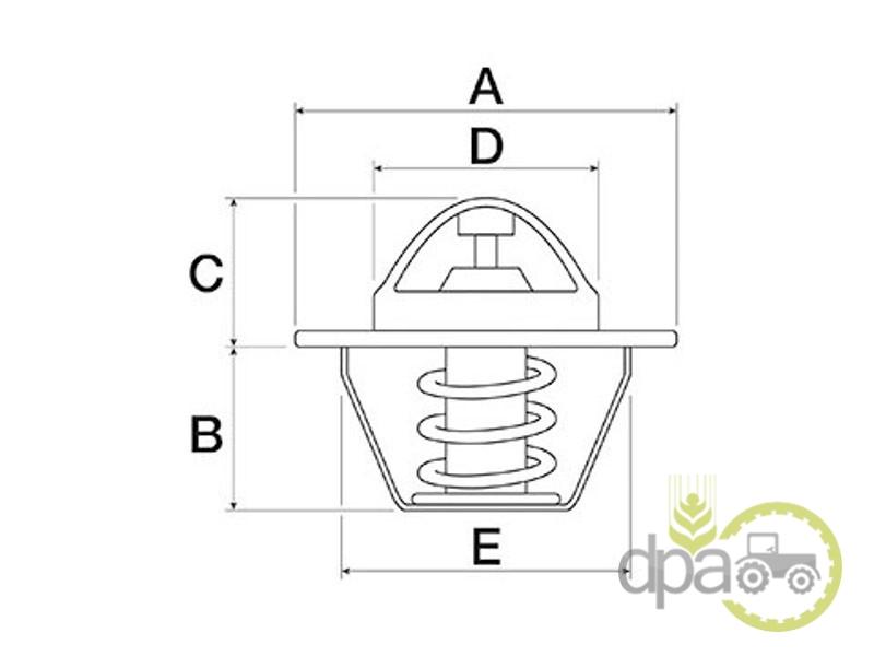Termostat  Case IH 132000060708