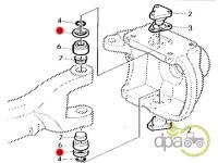 John Deere-Alte piese sistem directie-DISTANTIER PIVOT