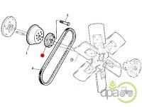 John Deere-Alte piese sistem racire-FLANSA FULIE POMPA APA
