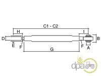 John Deere-Alte piese sistem ridicare hidraulica-TIJA REGLABILA