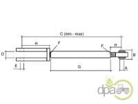 Ford-Alte piese sistem ridicare hidraulica-TIJA REGLABILA