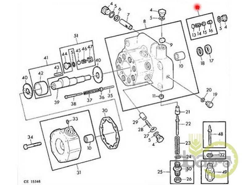 Valva pompa hidraulica  John Deere AR52785