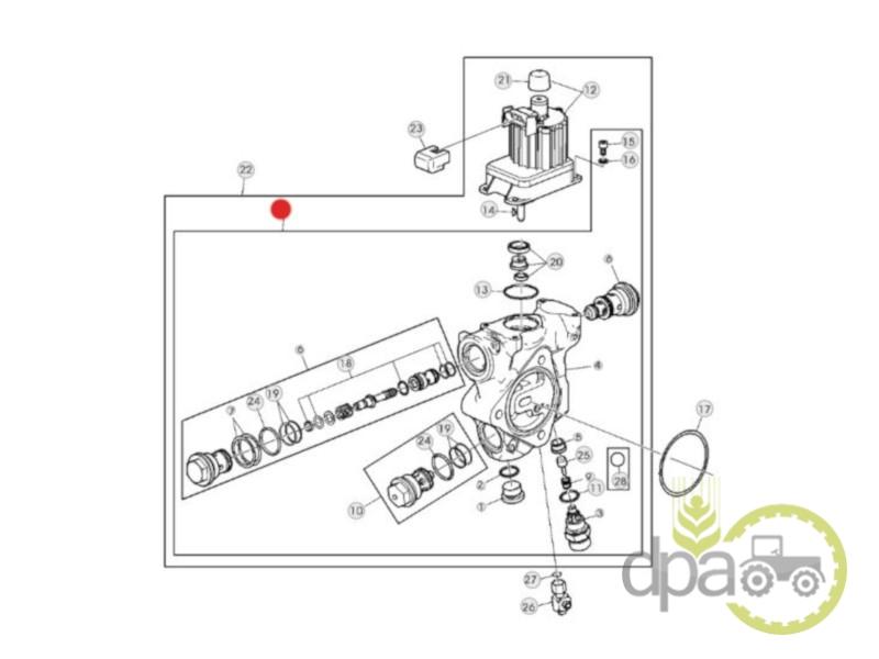 Valva ridicare hidraulica  John Deere AL172261