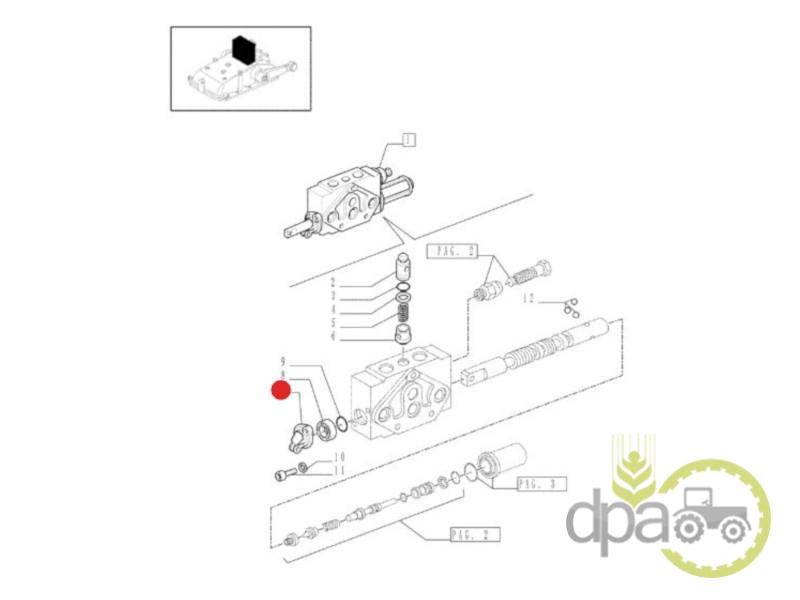 Cupla lant distribuitor hidraulic  Case IH 5116887